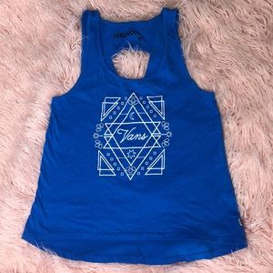 Blue Vans Tanktop with triangle opening in back